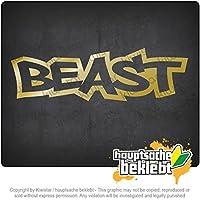 獣 Beast 14cm x 10cm 15色 - ネオン+クロム! ステッカービニールオートバイ