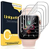 [4 Pack] UniqueMe Screen Protector for Apple Watch Series 5/4 40mm, [Soft Flexible TPU] Scratch Resistant HD iWatch Film