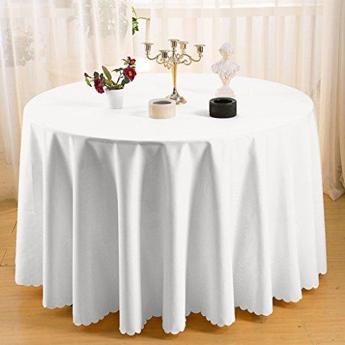 Nappe européenne Nappe Ronde - Solide Couleur/Table à Manger/Cuisine / Nappe Hôtel/Fête Réunion Naturelle Peau Respirante Naturelle 300 Cm (Couleur : C, taille : Round- 300cm)