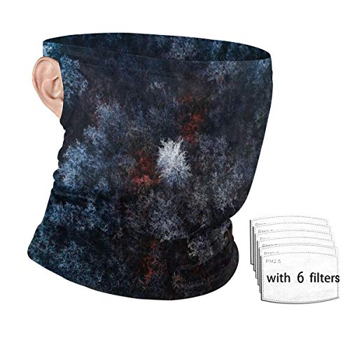 Frozen Forest Men Balaclava, Tactical Mask, Women Sun Hood, Neck Gaiter Dust UV Protection with Filters