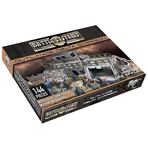 Battle Systems - BSTSFE005 - Outlands Delta Garrison - 28mm Sci-Fi Tabletop Miniature Gaming Terrain - Multi Level Sci Fi Outpost Tablero de Juego - Wargaming en un Universo de 40K