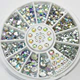 Strass 3D di decorazione per nail art, mix di glitter fai-da-te per unghie, accessori decorativi (multicolore).
