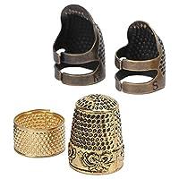 指ぬきの縫製、指ぬきの金属の編み物刺繡の編み物のキルティングの仕立てに実用的な4個