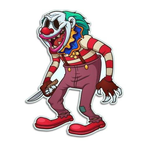 "Jester Evil Clowns Sticker Decal Blue Purple Red Yellow Orange Green 5/"" CLOSED"
