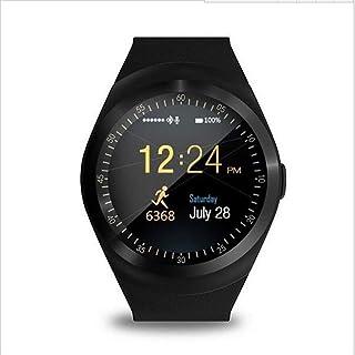 WHSN Reloj Inteligente Smartwatch para iOS iPhone Android Hombres Mujeres Correa Pulsera Actividad Impermeable Ip68 Pulsómetro Monitor Calorías Sueño Podómetro (Negro)