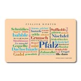 Tabla de desayuno, diseño de Pfälzer Wörter, Tagcloud con hermosas palabras del Pfalz. Una original y hermosa idea de regalo