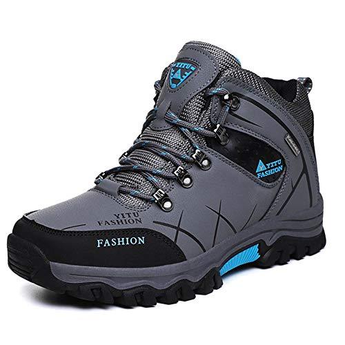 Hombres Invierno Botas De Nieve De Cuero Zapatillas De Deporte Súper Caliente Botas De Hombre Al Aire Libre Masculino Botas, color Gris, talla 43.5 EU