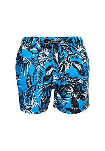 Superdry Swim Short Pantaloncini, Blu (Edit Palm Hawaii Blue T5d), S Uomo