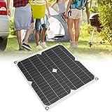 Redxiao Pannello Solare, 25W 5V Pannello Solare Semi-Flessibile Scheda di Ricarica Caricabatterie per Telefono Cellulare Doppia Porta USB per Campeggio da Viaggio all'aperto