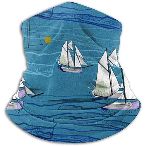 Segelboot Sea Wave Halswärmer Gaiter Ski Gesichtsmaske Cover für den Winter