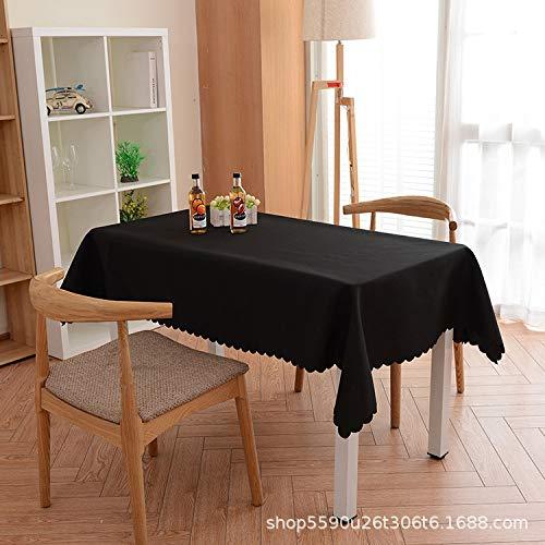 Langchao Mantel de hotel de color liso, de tejido liso, para conferencias, publicidad occidental, negro, 200 * 300