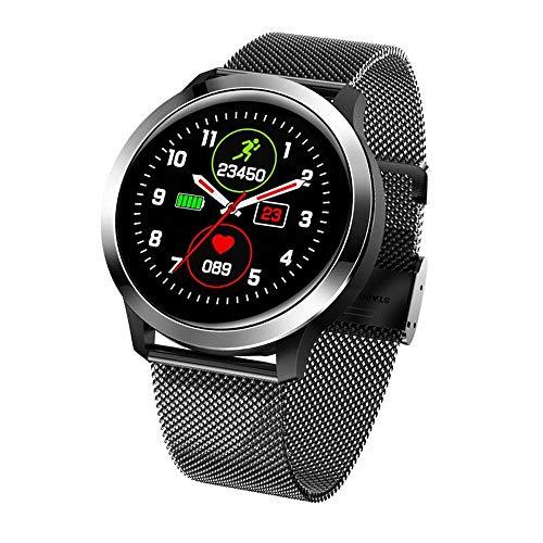 LRHD Reloj inteligente hombres IP68 Reloj deportivo a prueba de agua Oxygen SmartWatch Fitness Tracker SmartWatch Sport Smart Pulsera Smartwatch Compatible con iOS, Android para hombres, mujeres, negr