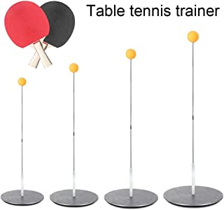 Shaft Table Tennis Trainer,LianLe Stainless Steel Table Tennis Trainer Leisure Decompression Sports for Reaction Ability and Eye Training for Indoor Outdoor Play