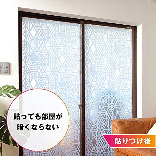 ニトムズ『窓ガラス粘着断熱シート凹凸ガラス用』