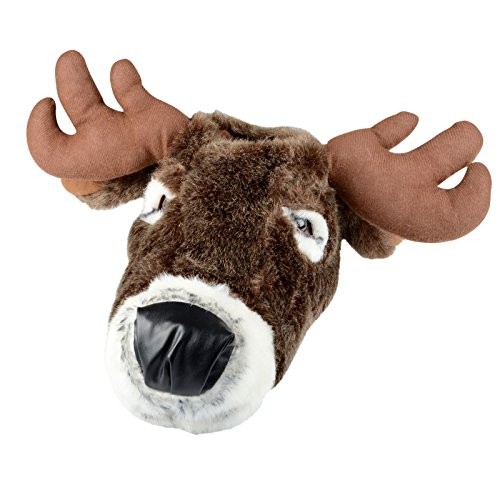 Adults Novelty Reindeer Christmas Slippers Mens Womens 3D Padded Xmas Size 5-6 Brown