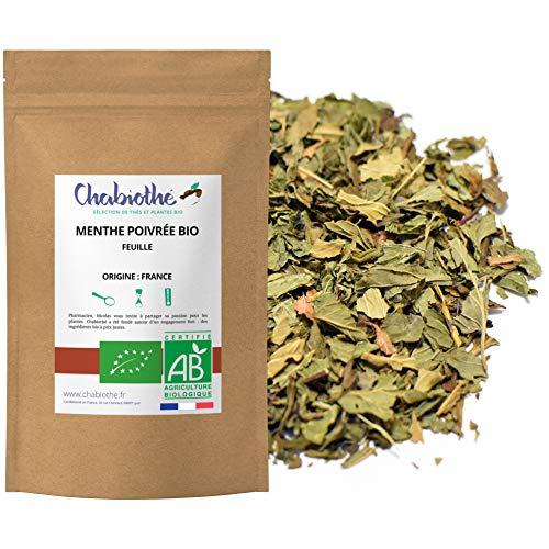 Chabiothé - Menthe Poivrée BIO (Mentha × piperita) 100g - Origine France - Infusion, épices