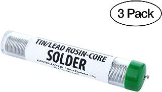 3- Pack of 60/40 Tin/Lead Rosin-Core Solders - 1.0 mm Diameter - 13g Tubes