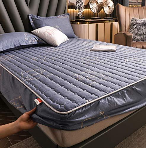 Sábana bajera ajustable extra profunda,Juegos de sábanas acolchadas de franela, funda de cama ajustada y gruesa cálida, para la funda de colchón de lana de coral de invierno King-I_90x200cm+25cm