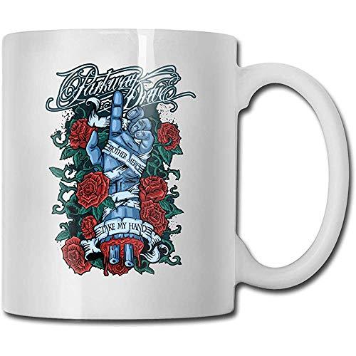 Parkway Drive Becher Kaffeetasse Teetasse Wein Becher Neuheit Lustiger Becher Weiße Keramiktassen Großer C-Griff