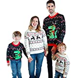 Simplee kids Ugly Christmas Sweater Family Matching Outfits for Holiday Party Knitted Pullover