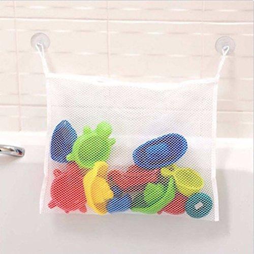 BESTOMZ Badespielzeug-Organizer für Badewannen-Netz, Babyspielzeug, Aufbewahrungsbehälter mit Saugnäpfen, 45 x 35 cm