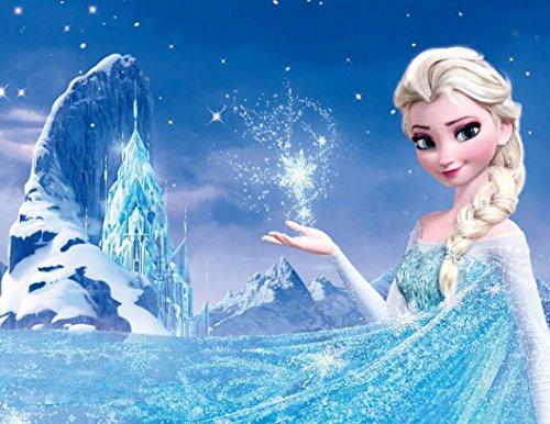 Frozen Elsa Ice Castle Princess Edible Image Photo Cake Topper Sheet Birthday Party Event - 1/4 Sheet - 78318