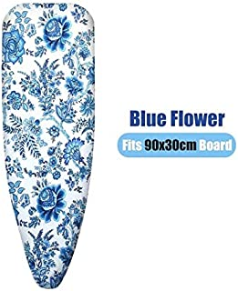 Ironing Board Cover Cotton Printed Universal Ironing Board Cover Thick Heat Retaining Felt Household Ironing Board Cover 90x30/100x30/110x34cm