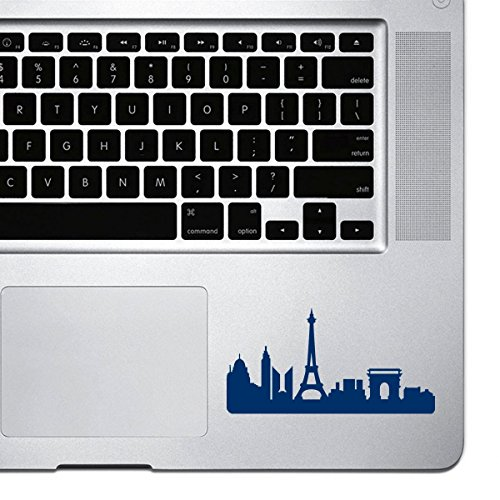 StickAny Palm Series Paris Skyline 2 - Adhesivo para MacBook Pro, Chromebook, y ordenadores portátiles (azul marino)