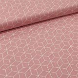 Schickliesel Baumwollstoff Meterware Waben (rosa)