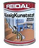 Feidal Flüssigkunststoff / farblos / seidenmatt / zum Versiegeln und Beschichten von Betonböden, Holz u. Metall / 2,5 Liter / Spezial Bodenbeschichtung für Industrie und Handwerk /