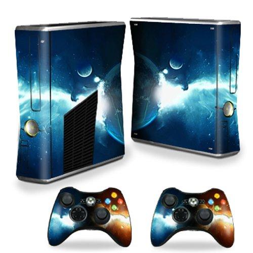 MightySkins Skin Compatible with Microsoft Xbox 360 S Slim + 2 Controller Skins wrap Sticker Skins Sci Fi