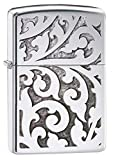 Zippo Filigree Design High Polish Chrome Pocket Lighter, One Size