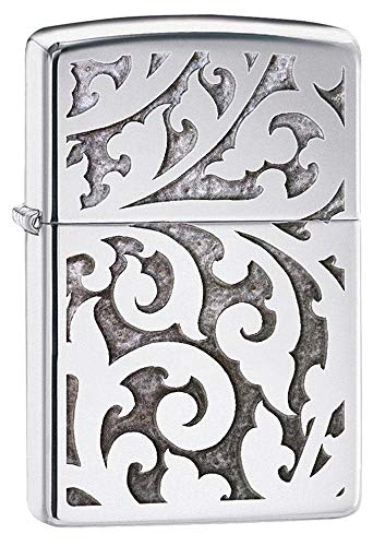 Zippo Filigree Design High Polish Chrome Pocket Lighter One Size