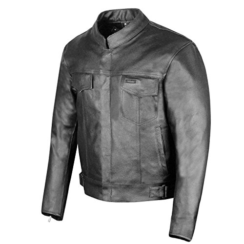 SOA Men's Leather Jacket Anarchy Motorcycle Club Concealed Carry Outlaws L
