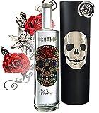 100% Vodka Geschenkset Flower Skull Luxus-Wodka Iordanov im Geschenk Chrome für Männer