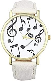 New Fashion Musical Note Watches Women Dress Watches Quartz Wristwatch