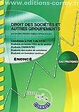 Droit des sociétés et autres groupements Énoncé - UE 2 du DCG