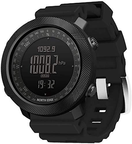 ZHAG Reloj Multifuncional Deportes Impermeable Reloj electrónico Temperatura de presión al Aire Libre, Reloj Deportivo Militar al Aire Libre Relojes Menores Multifunción Smart Digital Reloj, Silicone