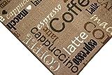 Teppich Modern Flachgewebe Gel Läufer Küchenteppich Küchenläufer Braun Beige Schwarz Creme mit Schriftzug Coffee Cappuccino Espresso Macchiato Größe 80 x 300 cm - 2
