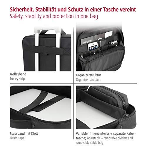 Hama Notebooktasche Business (Business Laptop-Tasche für Arbeit und Uni, passend für Notebooks, Laptops, Tablets mit Bildschirmdiagonale 15,6 Zoll / 40 cm) schwarz