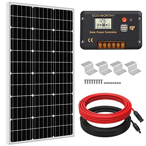 ECO-WORTHY 100 Watts Solar Panel Off Gird RV Boat Kit