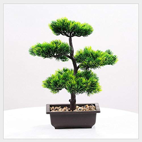 ZHONGLONGZHONG Welkomende Dennen Ornamenten Simulatie Plant Gepot Binnen Groene Plant Grote Bonsai Woonkamer Nep Bloem Decoratie Desktop Decoraties
