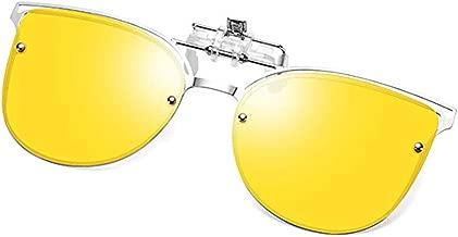Polarized Clip-on Sunglasses Anti-Glare UV 400 Protection Aviator/Cateye Sun Glasses Clip On Prescription Glasses