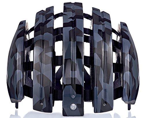 Carrera Fahrradhelm Foldable GTE Unisex Black Shiny camo 55-58