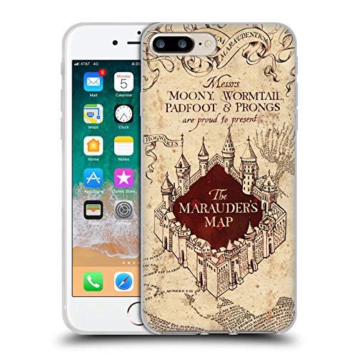 Head Case Designs Licenza Ufficiale Harry Potter The Marauder's Map Prisoner of Azkaban II Cover in Morbido Gel Compatibile con Apple iPhone 7 Plus/iPhone 8 Plus