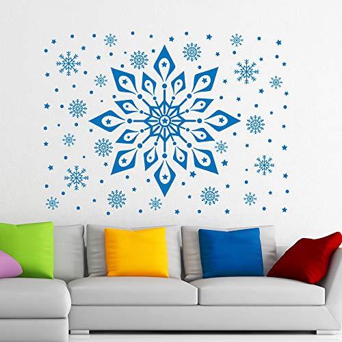 Vinyl muursticker sneeuwvlok patroon bevroren muur schilder venster kerst kunst decoratie muur sticker kunst muurschildering sticker 68.4x90cm