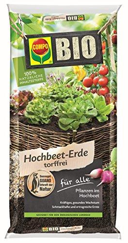 Compo Bio Hochbeet-und Gewächshauserde 40 L, braun
