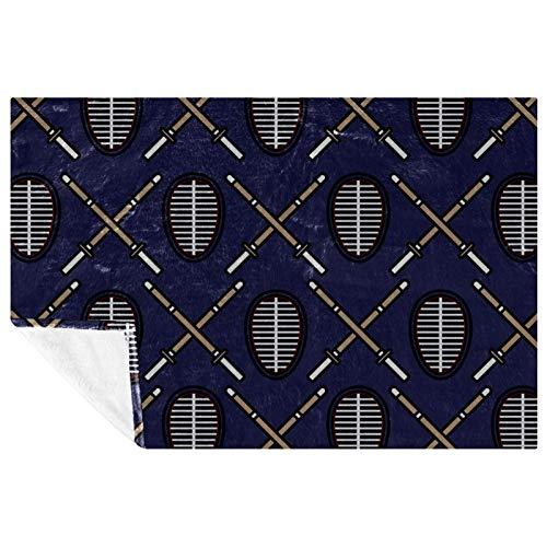 EZIOLY Kendo - Manta de microfibra suave y cálida para cama, sofá, al aire libre, viajes, picnic, campamento (59 x 39 pulgadas)