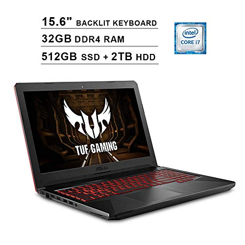 Asus 2019 FX504 15.6 Inch FHD TUF Gaming Laptop (Intel 6-Core i7-8750H up to 4.1 GHz, 32GB RAM, 512GB SSD...