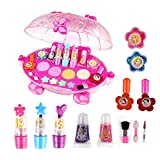 Maquillaje Niñas Set Juguete Niña Makeup Set For Children Girl Pretend Juego De Disfraces De Belleza Para Niñas Pequeñas Para Niños Con Forma De Carro De Princesa De Disney Juguetes Cosméticos